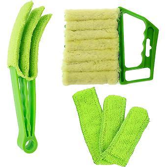 Kit perie de curățare pentru jaluzele venețiene manual de curățare accesoriu pentru jaluzele, Shutter Cleaner, fereastra aer conditionat Cleaner Dust Brush detașabil pentru a