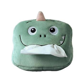 Cute Cartoon Soft Dinosaur Car Tissue Box