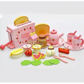 Wooden Toast Bread Breakfast Set Pretend Play Children's Kids Toys