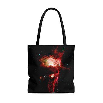 Premium polyester tote bag - galaxy image #101 nebula | small, medium, or large tote bag, gift for her, graphic tote bag, aesthetic tote