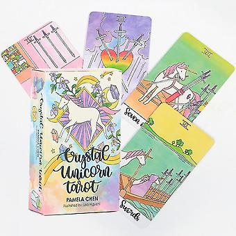 Caraele Board Game Tarot Card Crystal Unicorn Tarot