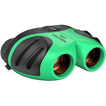 8x21 Peças de choque compactas para crianças verdes presente de Natal