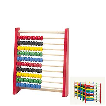 Lasten oppimislelut, Puinen runko Monivärinen Bead Abacus, Varhaiskasvatuksen puinen laskentakehys