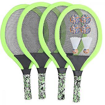 2 Sets Sports de plein air Tennis Racquet Sets Parent-enfant Éducatif Badminton Tennis