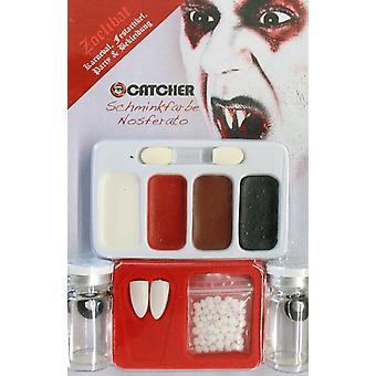 Dientes de maquillaje Maquillaje set Nosferatu con lentes de contacto