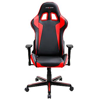 DX Racer DXRacer OH/FH00/NR High-Back Gaming Chair Carbon Look Vinyl+PU(Black/Red)