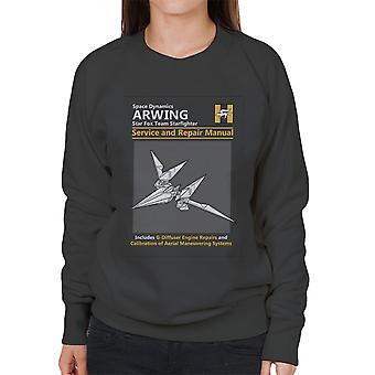 Star Fox Arwing Service And Repair Manual Women's Sweatshirt