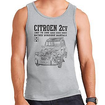 Haynes Owners Workshop Manual Citroen 2CV Black Men's Vest