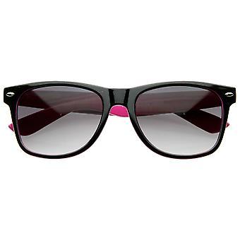 To Tone Multi Color Neon Retro mode klassiske Horn kantede stil solbriller