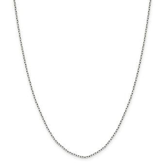 925 Sterling Silver Octagon Spring Ring 1.65mm 8 Sided Sparkle-Cut Cable Chain Necklace - Length: 16 to 30