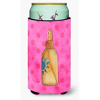 Message in a Bottle Pink Polkadot Tall Boy Beverage Insulator Hugger