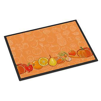 オレンジの屋内または屋外マット 24 x 36 の果物と野菜