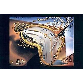 Melting Clock At Moment Of First Explosi Poster Print by Salvador Dali (37 x 27)