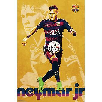 FC Barcelona - Neymar Jr 16 Poster Poster Print