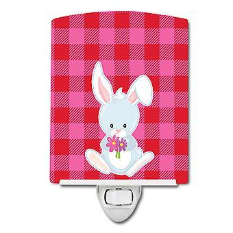 Carolines Treasures  BB9171CNL Bunny Rabbit #2 Ceramic Night Light