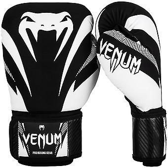 Venum Impact Hook and Loop Training Boxing Gloves - Black/White