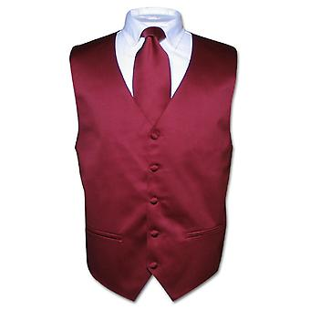 Muži ' s vesta & necktie pevný krk vázanka na oblek nebo Tuxedo