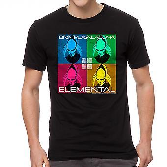 The Fifth Element Diva Elemental Men's Black T-shirt