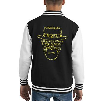 Breaking Bad Heisenberg Collage Kid's Varsity Jacket