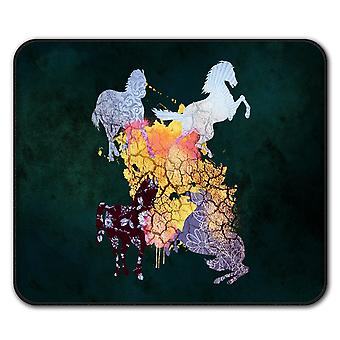 Horse Cool Animal  Non-Slip Mouse Mat Pad 24cm x 20cm | Wellcoda
