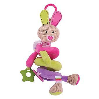 Bigjigs Toys Soft Plush Bella Spiral Cot Rattle Sensory Toy Development