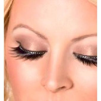 Glamour Eyelashes - Black - with Crystals - contains Glue