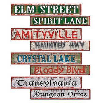 Хэллоуин дорожный знак картона вырезать