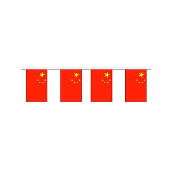 China Flag Bunting Rectangular Flags 6 Mtr long 20 flags Polyester