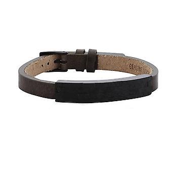 s.Oliver jewel mens leather bracelet stainless steel SO1020/1 - 463706