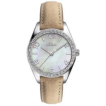 couro de relógio de pulso relógio s.Oliver feminino SO-3267-LQ
