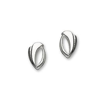 Sterling Silver perinteinen nykyaikainen moderni trendikäs twirls Design pari korva korut-E1093