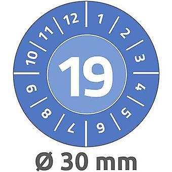Etiqueta Avery-Zweckform 6946 19 2019 azul de la prueba (Ø x L) 30 x 30 mm 80 PC