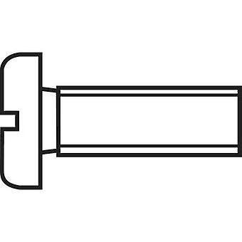TOOLCRAFT 888665 Inbusschrauben M1 10 mm Schlitz DIN 84 ISO 1207 Stahl Zink vernickelt 1 PC