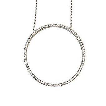 """دائرة من الفضة """"سوار الحياة"""" مع بلورات بيضاء"""