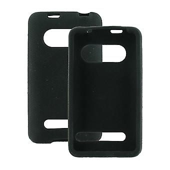 Silicone Sleeve Case with Kickstand Opening Compatible with HTC EVO 4G  - Black