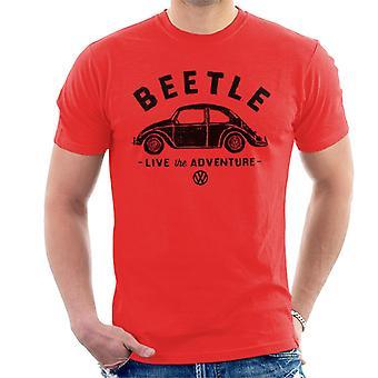 Official Volkswagen Beetle Black Live The Adventure Men's T-Shirt