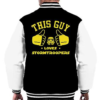 Original Stormtrooper This Guy Loves Troopers Men's Varsity Jacket
