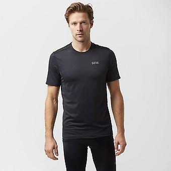 New Gore Men's R3 Running Hiking Short Sleeve Shirt Black