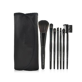 TRIXES 7 Piece Cosmetics Makeup Brush Kit in Travel Pouch
