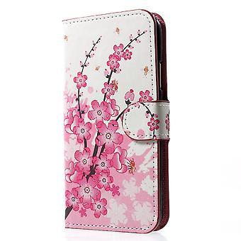 iPhone X portafoglio caso-Plum Fiori