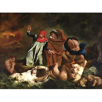 The Barque of Dante,Eugene Delacroix,50x40cm