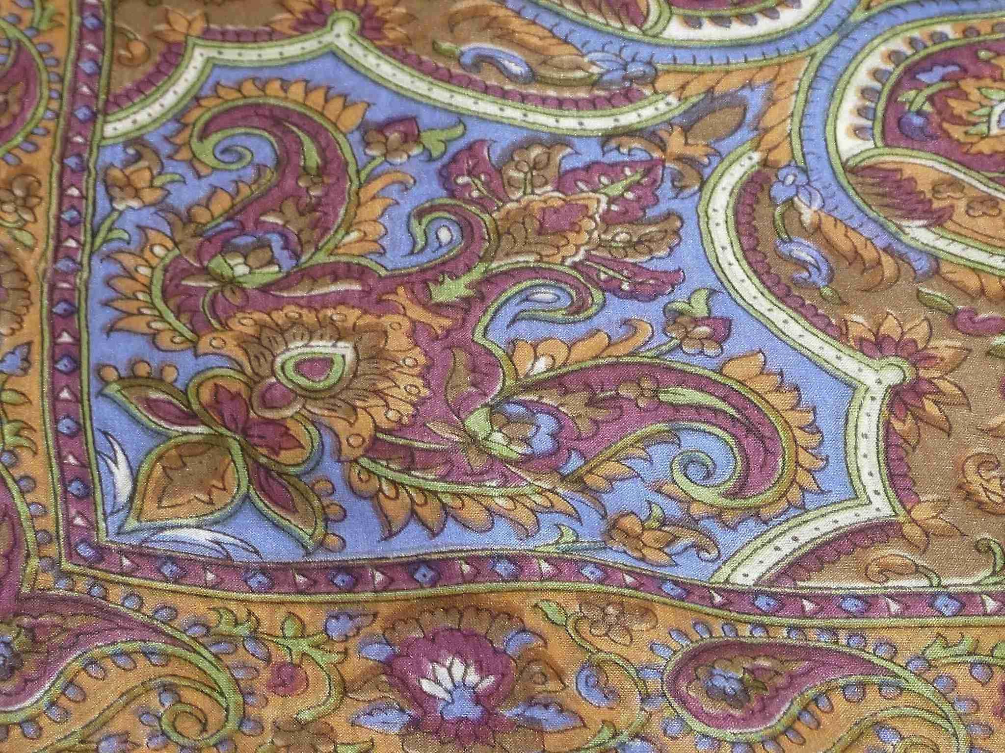 Mulberry Silk Traditional Square Scarf Kalinda Caramel by Pashmina & Silk