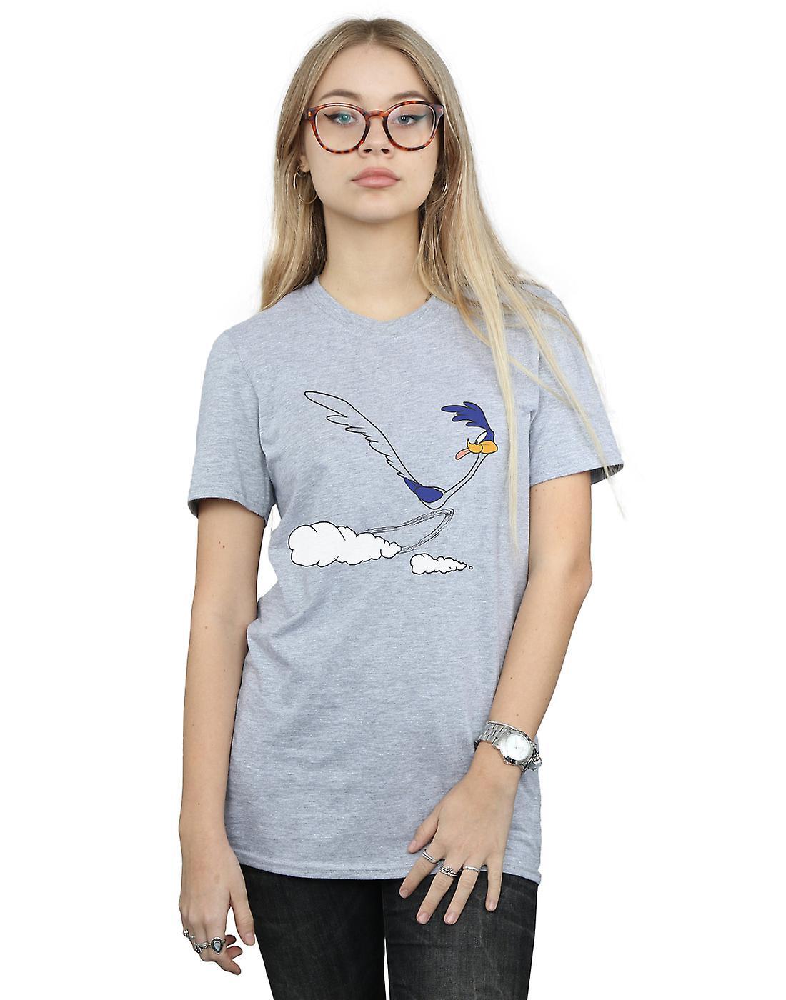 Looney Tunes Women's Road Runner Running Boyfriend Fit T-Shirt
