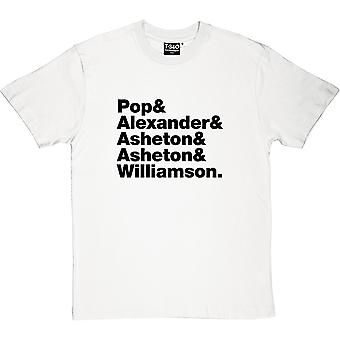 Iggy och Stooges Line-Up herrarnas T-Shirt