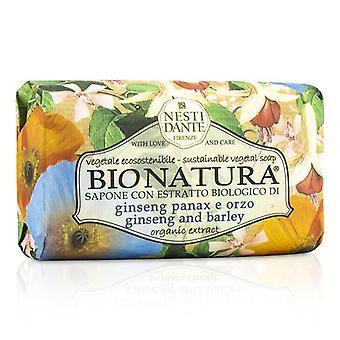 Nesti Dante Bio Natura sapone vegetale sostenibile - Ginseng e orzo - 250g / 8.8 oz