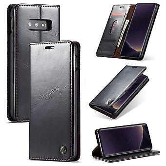 CaseMe beschermhoes mobiele telefoon geval voor Samsung Galaxy S10 Lite business tas portemonnee zwart