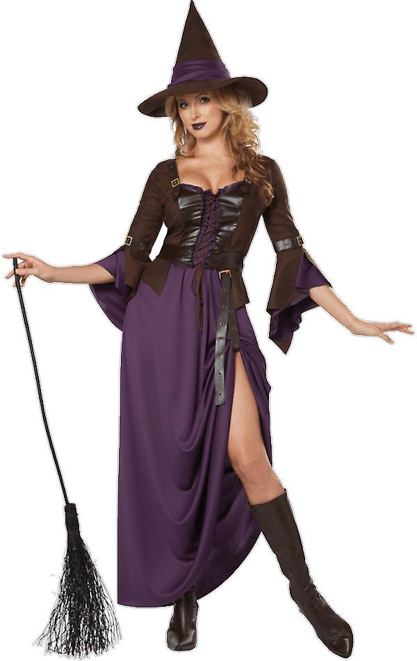 Womens Salem Witch Halloween Books & Film Fancy Dress Costume