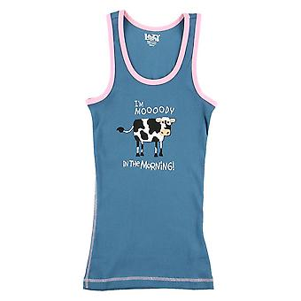 LazyOne Womens Mooody In The Morning PJ Tank Top