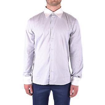 Bikkembergs Ezbc101058 Men's Light Blue Cotton Shirt