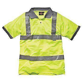 Dickies Hi-Vis veiligheid poloshirt / Mens werkkleding (Pack van 2)